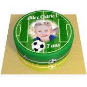 Gâteau Terrain de Football Personnalisable - Ø 20 cm Fraise