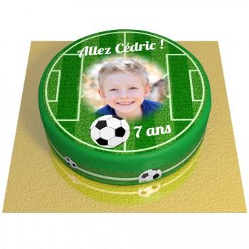 Gâteau Terrain de Football Personnalisable - Ø 20 cm