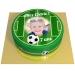 Gâteau Terrain de Football Personnalisable - Ø 20 cm. n°1