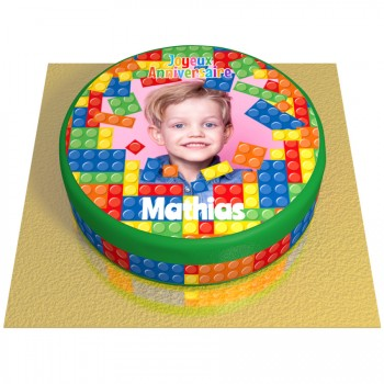 Gâteau Block Party Personnalisable - Ø 20 cm