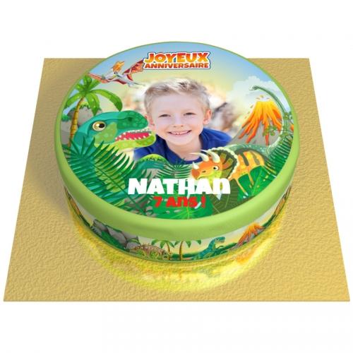 Gâteau Dino Party Personnalisable - Ø 20 cm