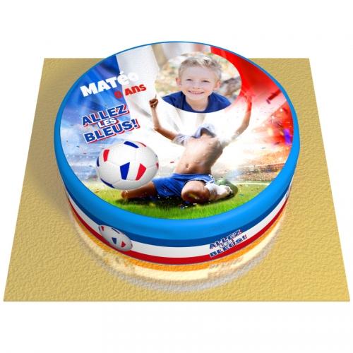 Gâteau Allez les Bleus Personnalisable - Ø 20 cm