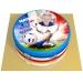 Gâteau Allez les Bleus Personnalisable - Ø 20 cm. n°1