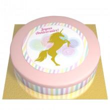 Gâteau Licorne Or - Ø 26 cm