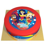 Gâteau Super Hero Girls - Ø 26 cm Chocolat