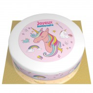 Gâteau Licorne Rainbow - Ø 26 cm