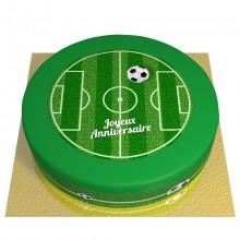Gâteau Terrain de Football - Ø 26 cm