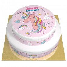 Gâteau Licorne Rainbow - 2 étages