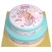 Gâteau Licorne Rainbow bleu - 2 étages. n°1