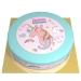 Gâteau Licorne Rainbow bleu - Ø 26 cm. n°1