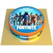 Gâteau Fortnite - Ø 20 cm Fraise