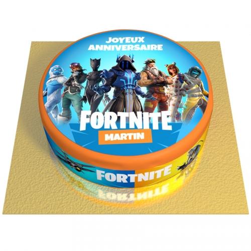 Gâteau Fortnite Personnalisable - Ø 20 cm