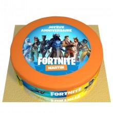 Gâteau Fortnite Personnalisable - Ø 26 cm