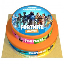 Gâteau Fortnite Personnalisable - 2 étages
