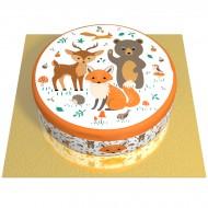 Gâteau Animaux de la Forêt - Ø 20 cm