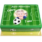 Gâteau Foot personnalisable - 26 x 20 cm Vanille