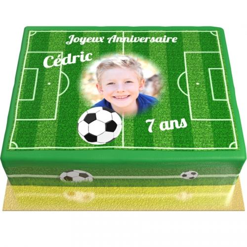 Gâteau Foot personnalisable - 26 x 20 cm