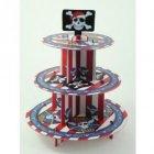 Présentoir 3 Plateaux Cupcakes Pirate Party