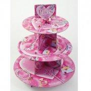 Pr�sentoir 3 plateaux Cupcakes Princesse
