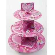 Présentoir 3 plateaux Cupcakes Princesse