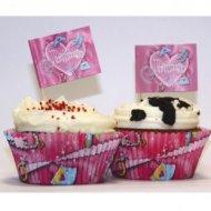 Kit 24 Caissettes et Déco Cupcakes Princesse
