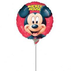 Ballon sur tige Mickey Portrait rond