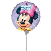 Ballon sur tige Minnie Portrait rond