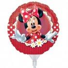 Ballon sur tige Minnie Marguerites rond
