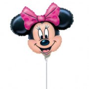 Ballon sur tige T�te de Minnie