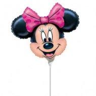 Ballon sur tige Tête de Minnie