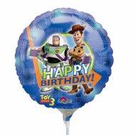 Ballon sur tige Toy Story rond