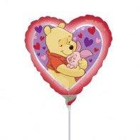 Ballon sur Tige Winnie Coeur