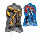 Ballon sur tige Transformers 2 faces différentes