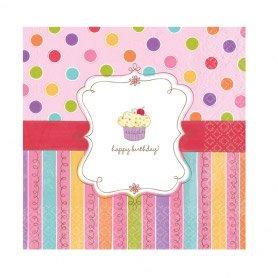 16 Serviettes Sweet Cake