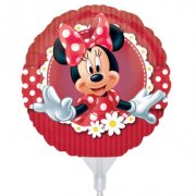 3 Ballons sur Tige Minnie Mouse à gonfler