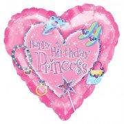 Ballon H�lium Princesse Coeur
