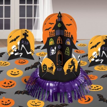 kit de d coration de table maison hant e halloween pour l 39 anniversaire de votre enfant annikids. Black Bedroom Furniture Sets. Home Design Ideas