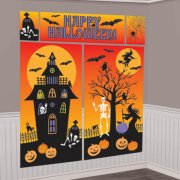 Kit de décoration murale Happy Halloween