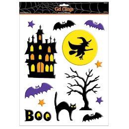 Décors de fenêtre Halloween Boo