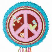 Pull Pinata Peace and Love Dépliable