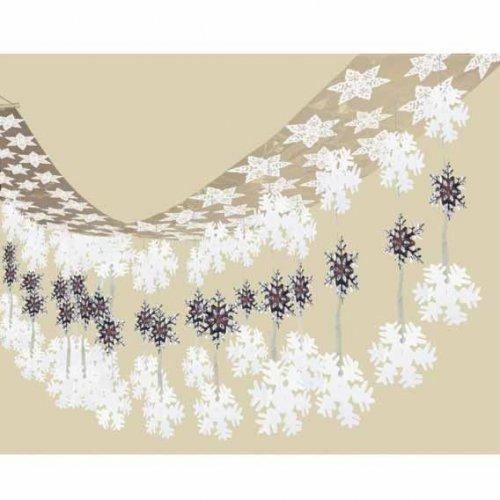 Guirlande de plafond Étoiles et Flocons