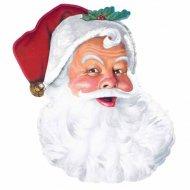 Décoration visage Père Noël