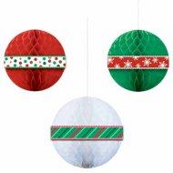 3 Boules Papier de Noël 3D