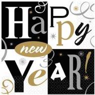 16 Serviettes Happy New year