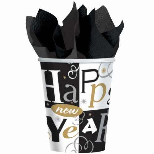 8 Gobelets Happy New year
