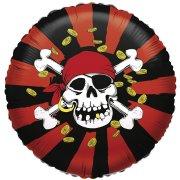 Ballon Hélium Pirate Tête de Mort