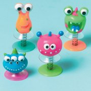 Lot de 12 Crazy Monsters sauteurs