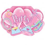 Kit 8 Invitations Princesse