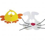 Masques Duo Lapin et Poussin en Mousse