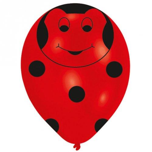 6 Ballons Figurine Coccinelle